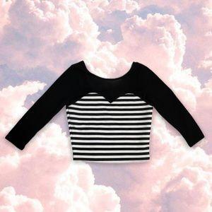 2/$12‼️ MATERIAL GIRL Sweetheart Mesh Crop